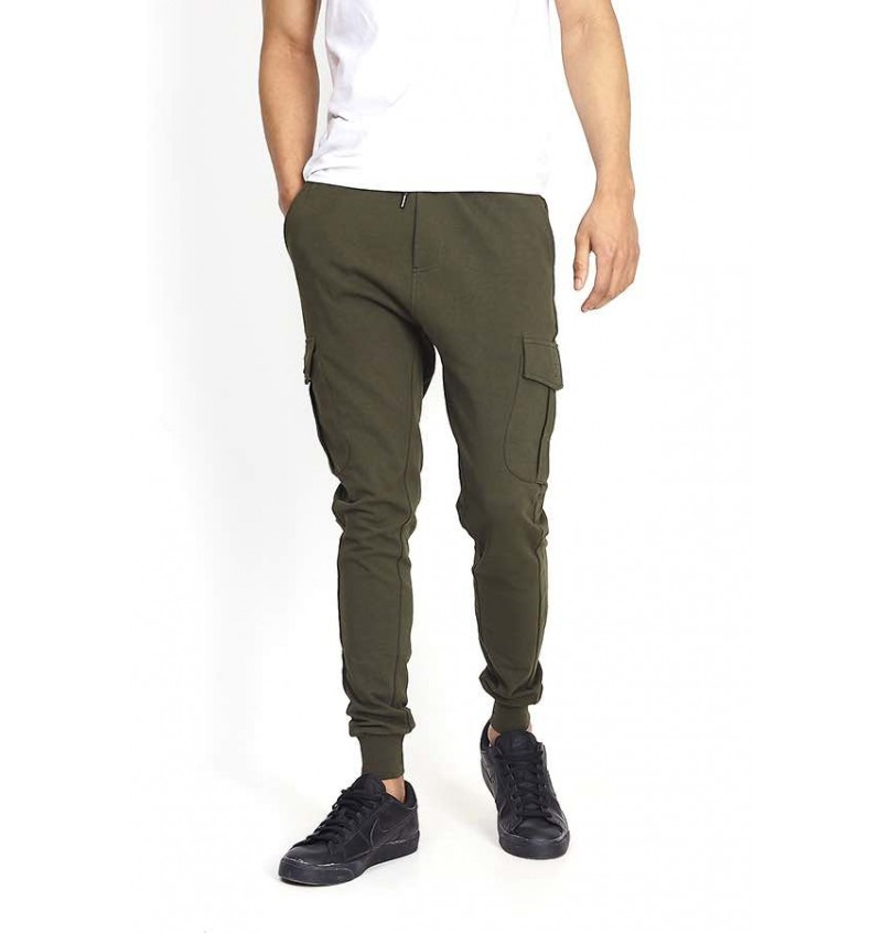 Pantalon Jogging Skinny Pour Homme Poches Cargo MJB-69GAUZE - BRAVE SOUL