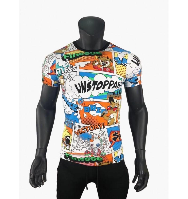 Tee-shirt Manche Courte Col Rond Impression BD 03/162T - B2BMENSFASHION