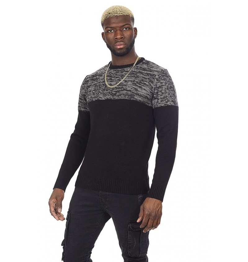 Pull Col Rond Maille Double Fil BS2 MK-230ROLANDD - BRAVE SOUL
