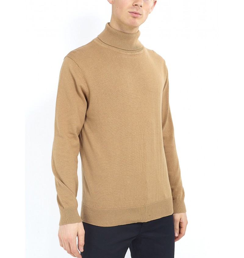 Pull Beige Col Roulé MK-230HUMES - BRAVE SOUL