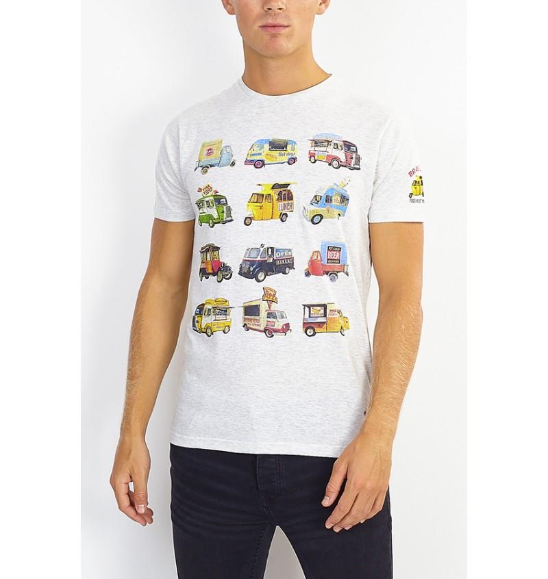 Tee-shirt Food Truck  MTS-149FOOD - BRAVE SOUL