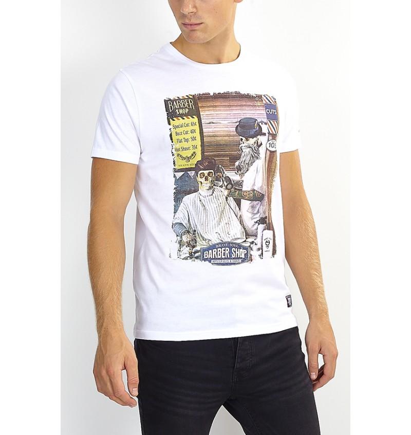 Tee-Shirt Skull Barber Shop MTS-69SWEENEYB - BRAVE SOUL