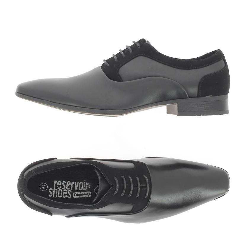 Chaussures A Lacet Noir Mix M5901A JACO - RESERVOIR SHOES