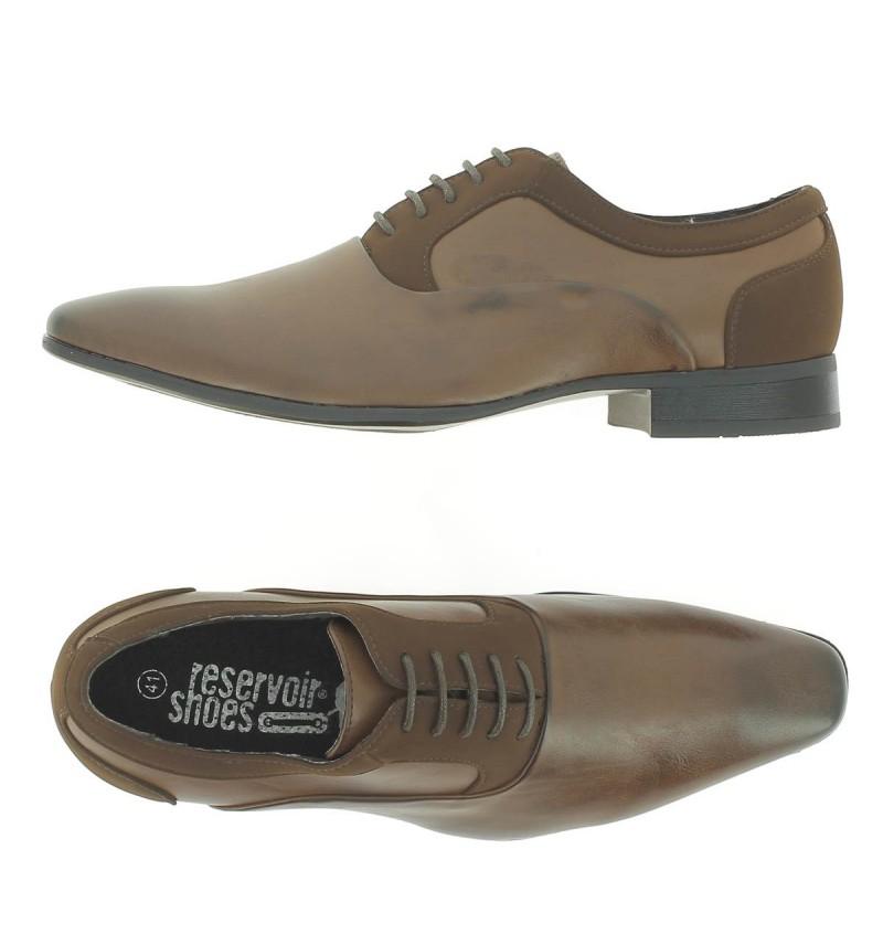 Chaussures A Lacet Marron Mix M5901G JACO - RESERVOIR SHOES
