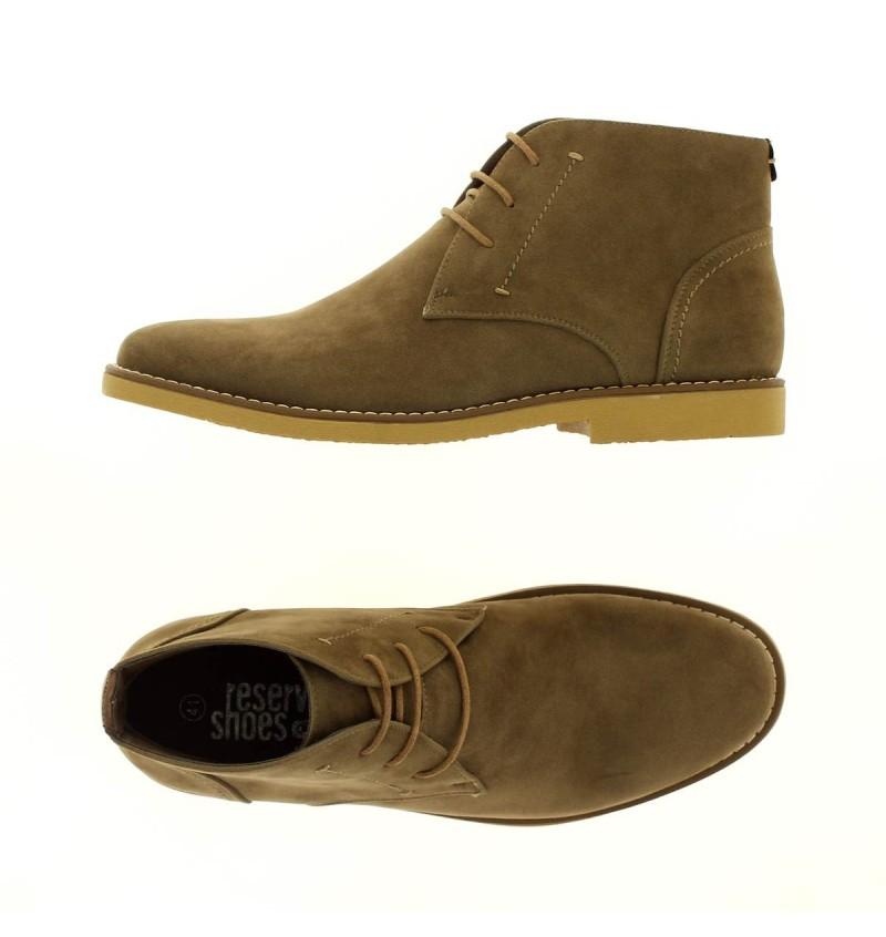 Boots Taupe Effet Daim M2721M COLINE - RESERVOIR SHOES