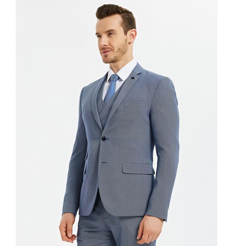 Veste blazer cintré bleu ciel BLZ-021-5 CHRISTIAN - YVES ENZO