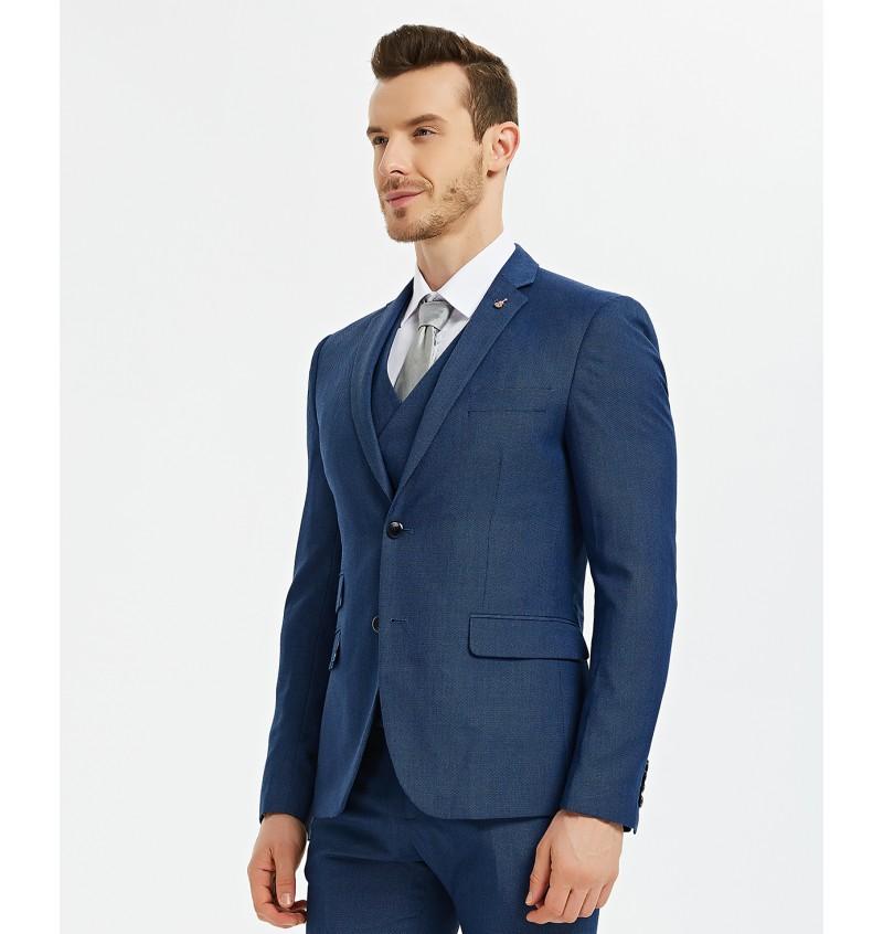 Veste blazer cintré bleu cobalt  BLZ-V02-4 CHRISTIAN - YVES ENZO