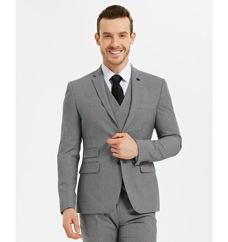 Veste blazer cintré gris cobalt  BLZ-V02-3 CHRISTIAN - YVES ENZO