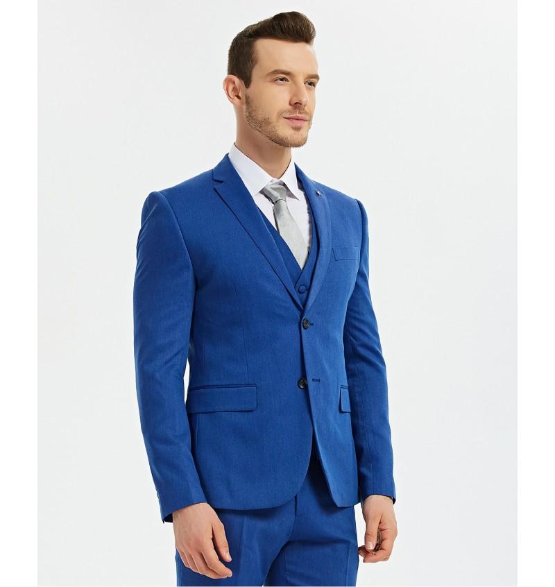Veste Blazer Cintré Bleu Royal BLZ-V020-7 CHRISTIAN - YVES ENZO