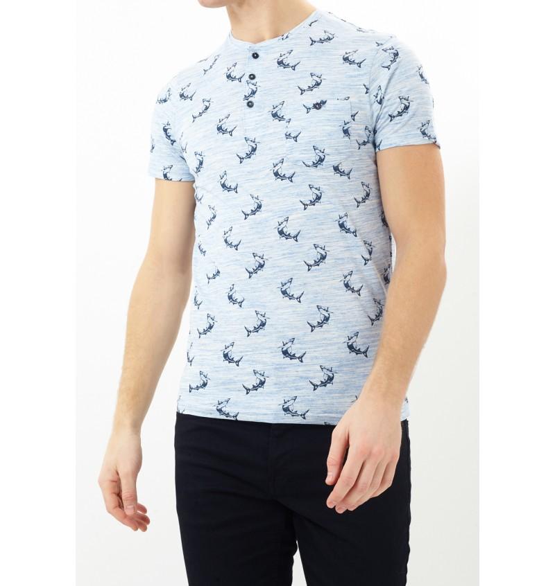Tee-Shirt Imprimé Requin MTS-69MAKO - BRAVE SOUL