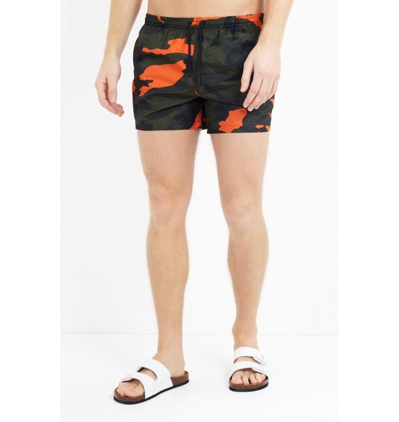 Short De Bain Camouflage Orange MSRT-PERTH - BRAVE SOUL