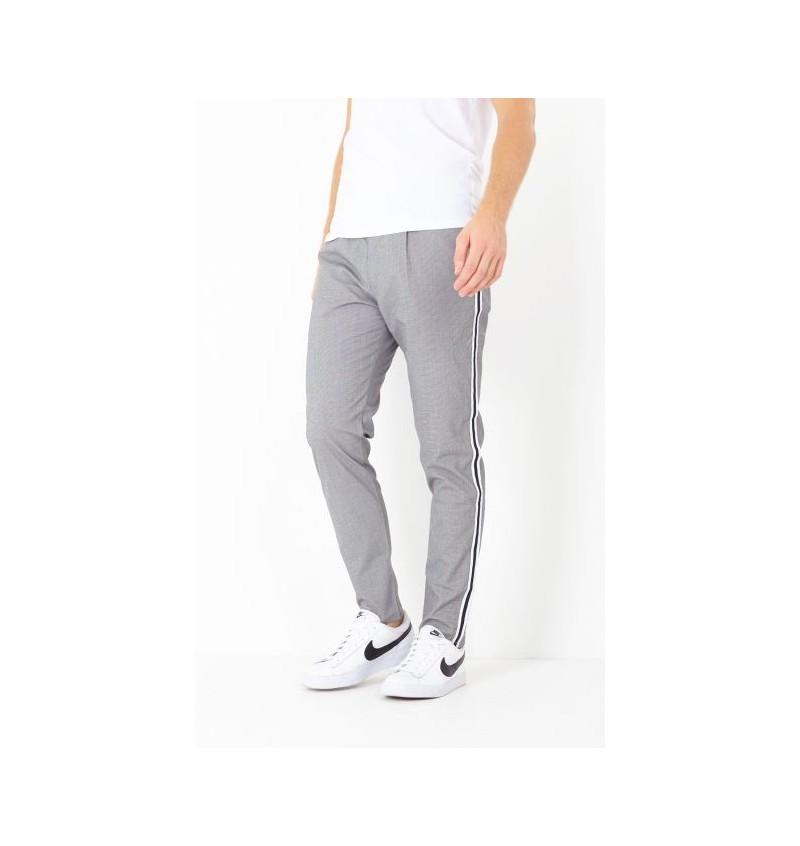 Pantalon fine rayure Bande Coté MTR-STERLING - BRAVE SOUL