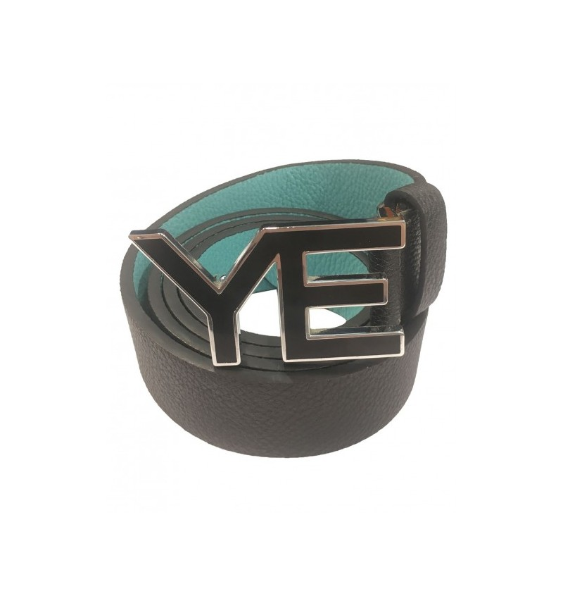 Ceinture Noir Réversible A Boucle YE 09-CE9106 YVES ENZO