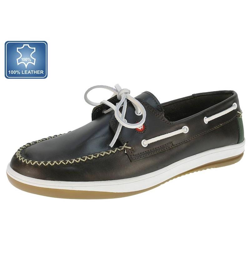 Chaussures Bateau Marron Cuir 13B2163871 - WAY