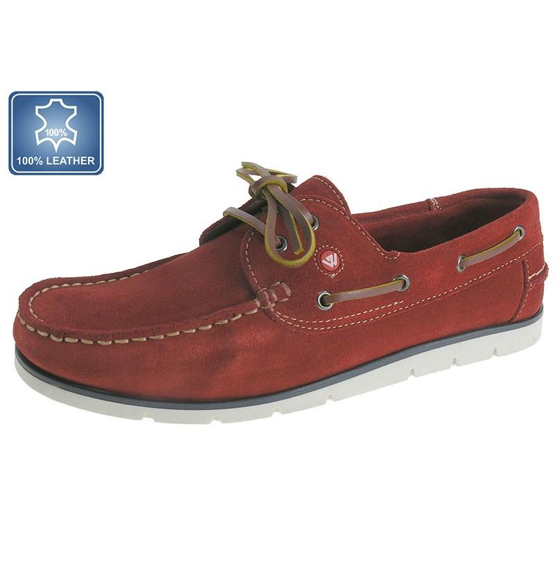 Chaussures Bateau Rouge Daim 13B2173082 - WAY