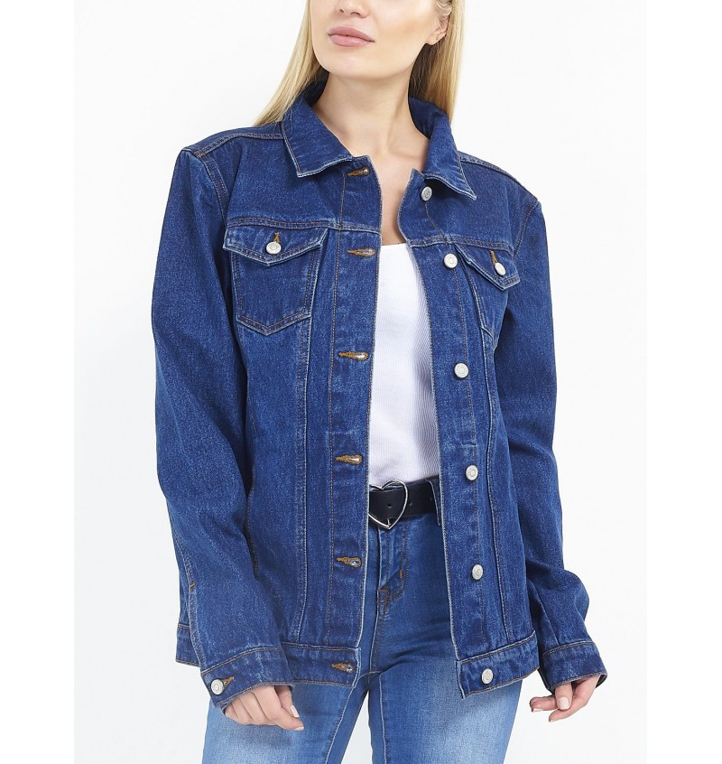 Veste en Jean Bleu Femme Oversized LJK-FIELDINGBLUE- BRAVE SOUL